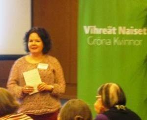Tanja Petrell valittiin Vihreiden Naisten hallituksen varajäseneksi